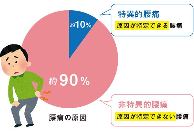 腰痛の原因割合