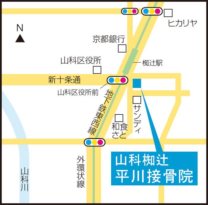 山科椥辻院のマップ