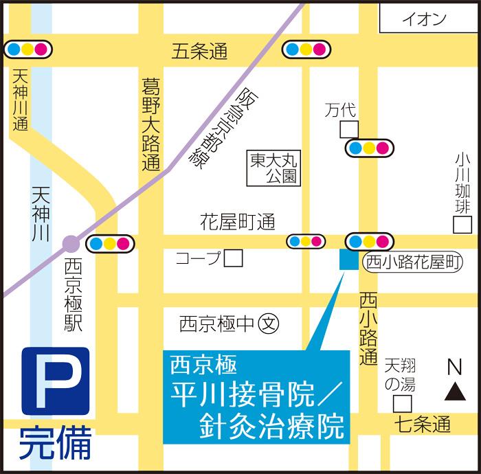 西京極院のマップ